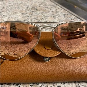 Ray ban rose gold